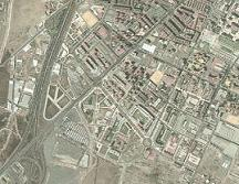 Foto aérea de localización geográfica