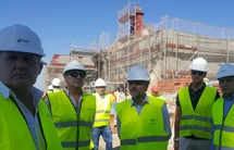 Fiscal visita las obras de restauración del Cortijo La Atalaya, en Cazalla